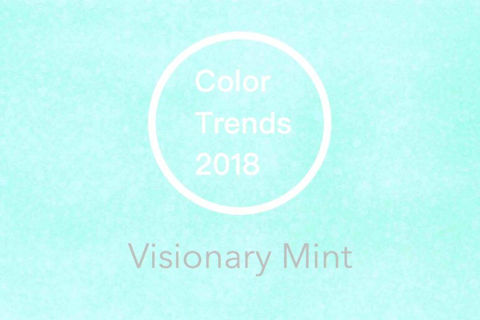2018年 トレンドカラー 流行色 ビジョナリーミント Visionary Mint