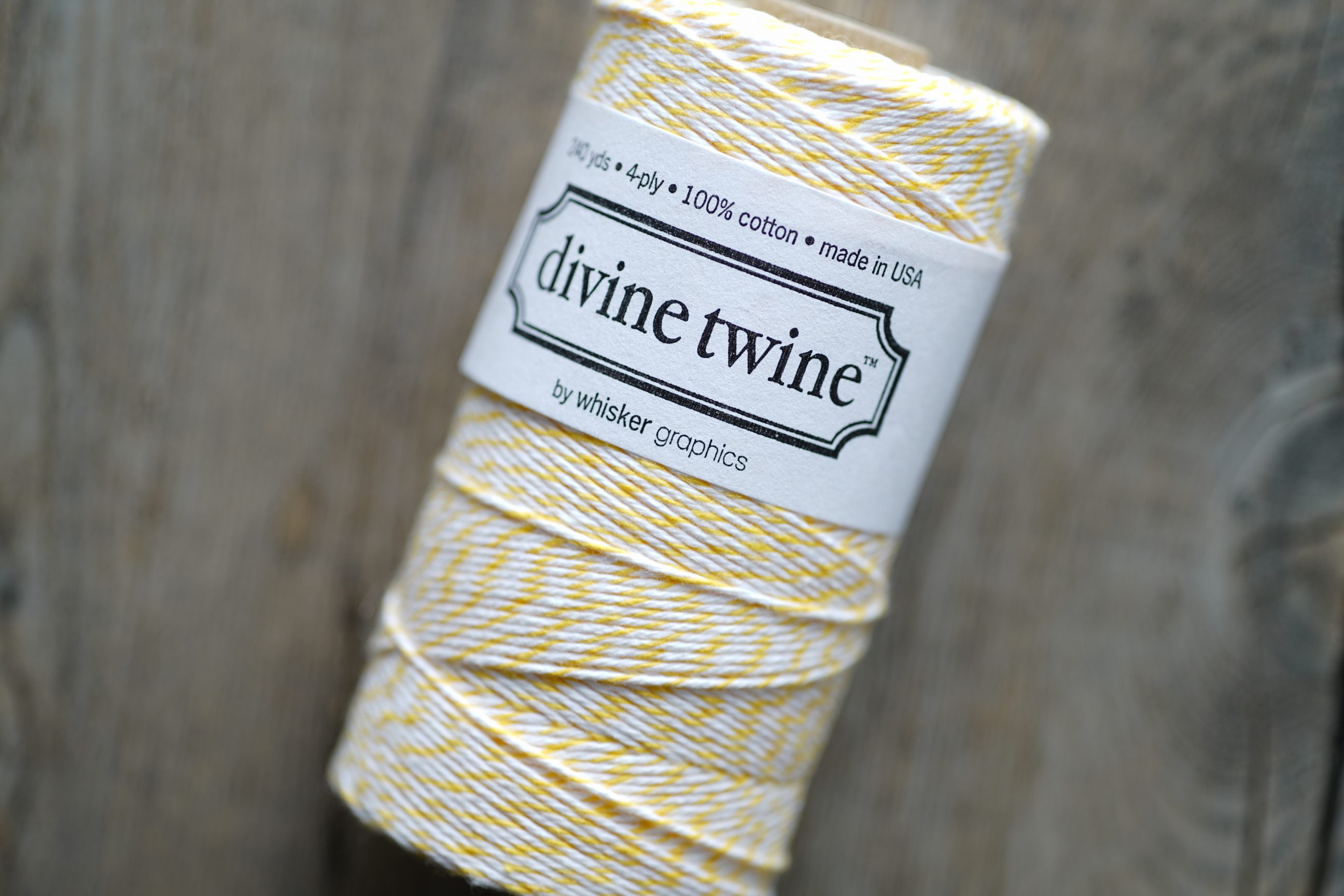 Divine Twine Yellow (Lemon)