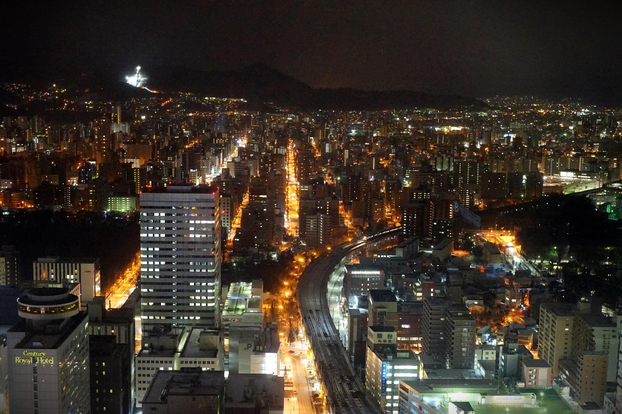 JRタワー展望室からの札幌の夜景