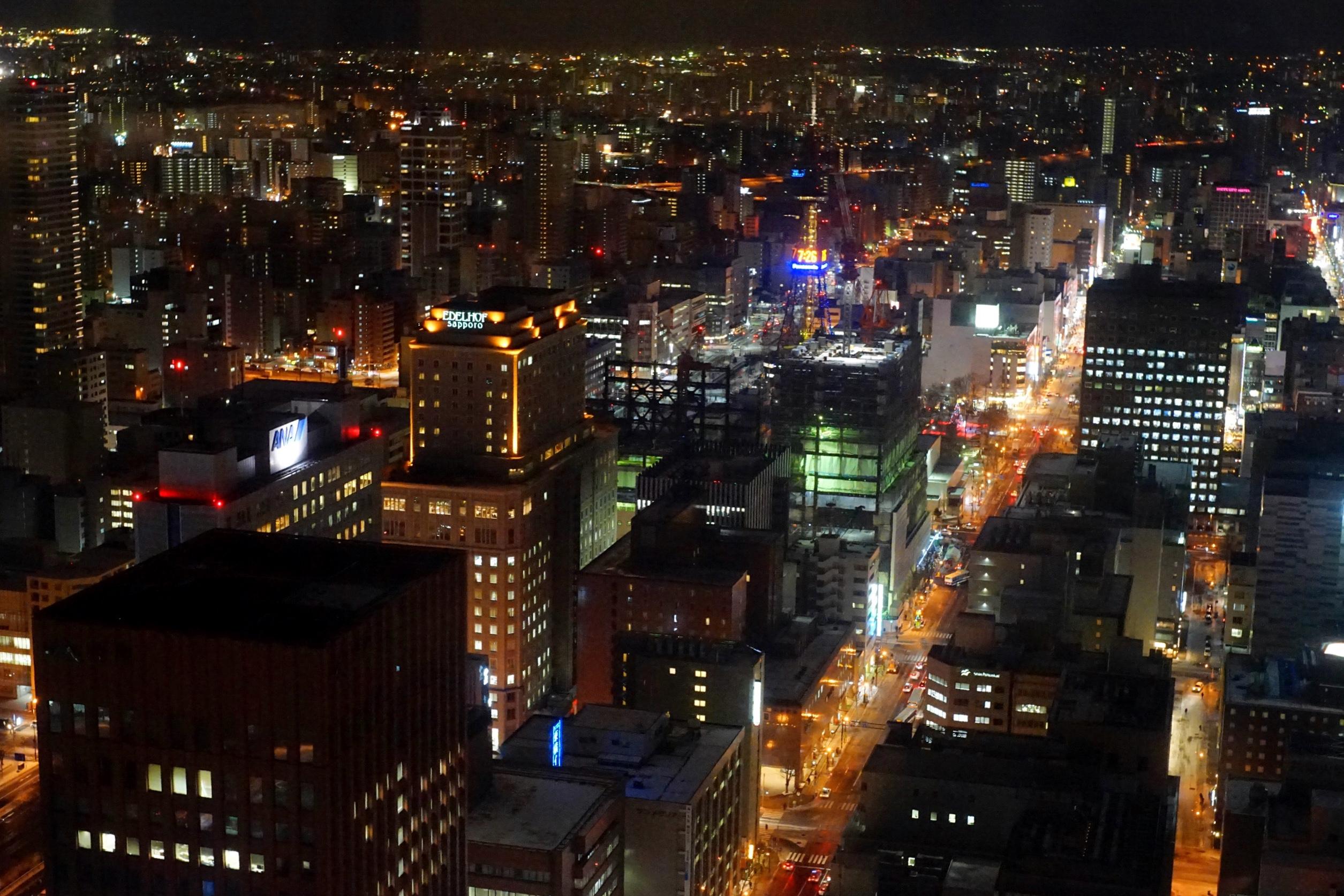 JRタワーT38からの札幌の夜景