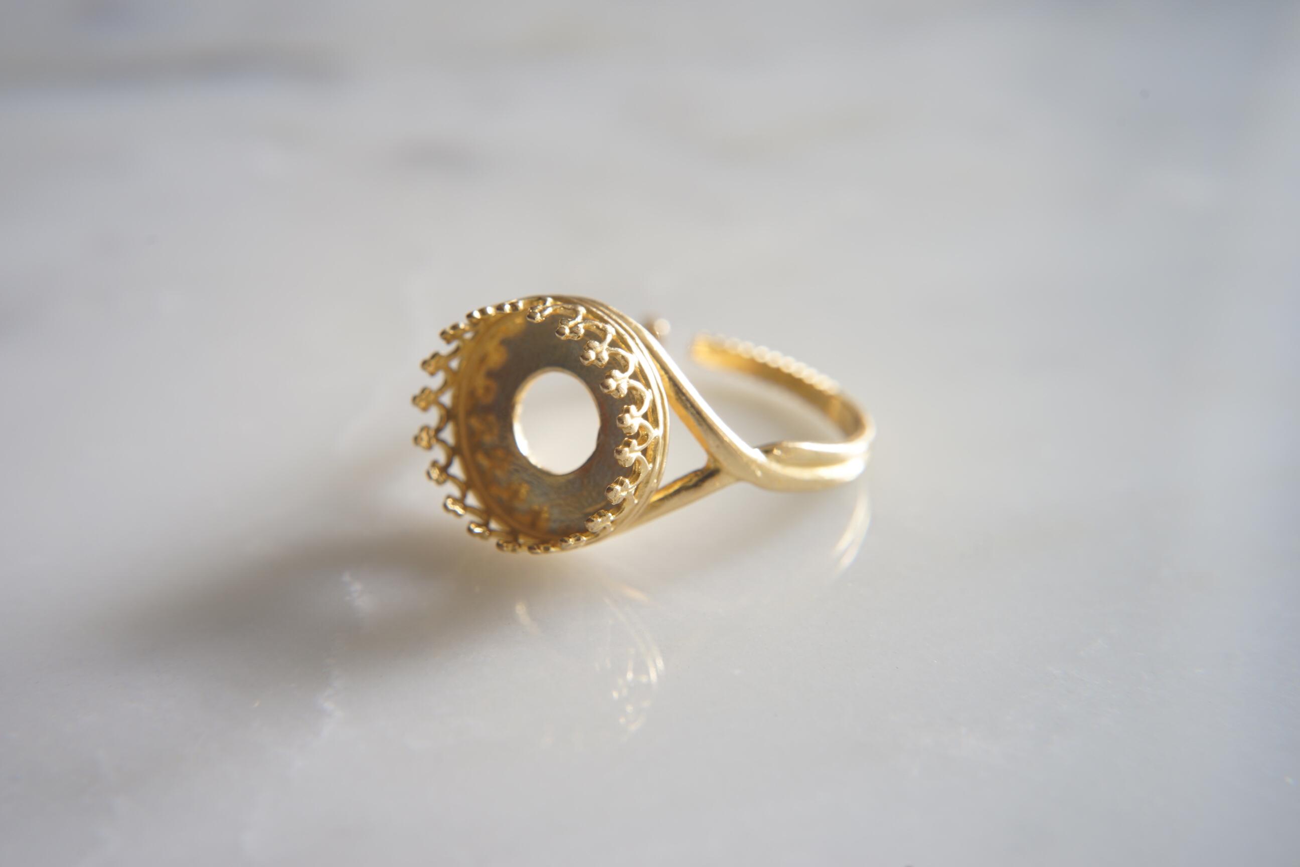 真鍮(ブラス)製 空枠指輪